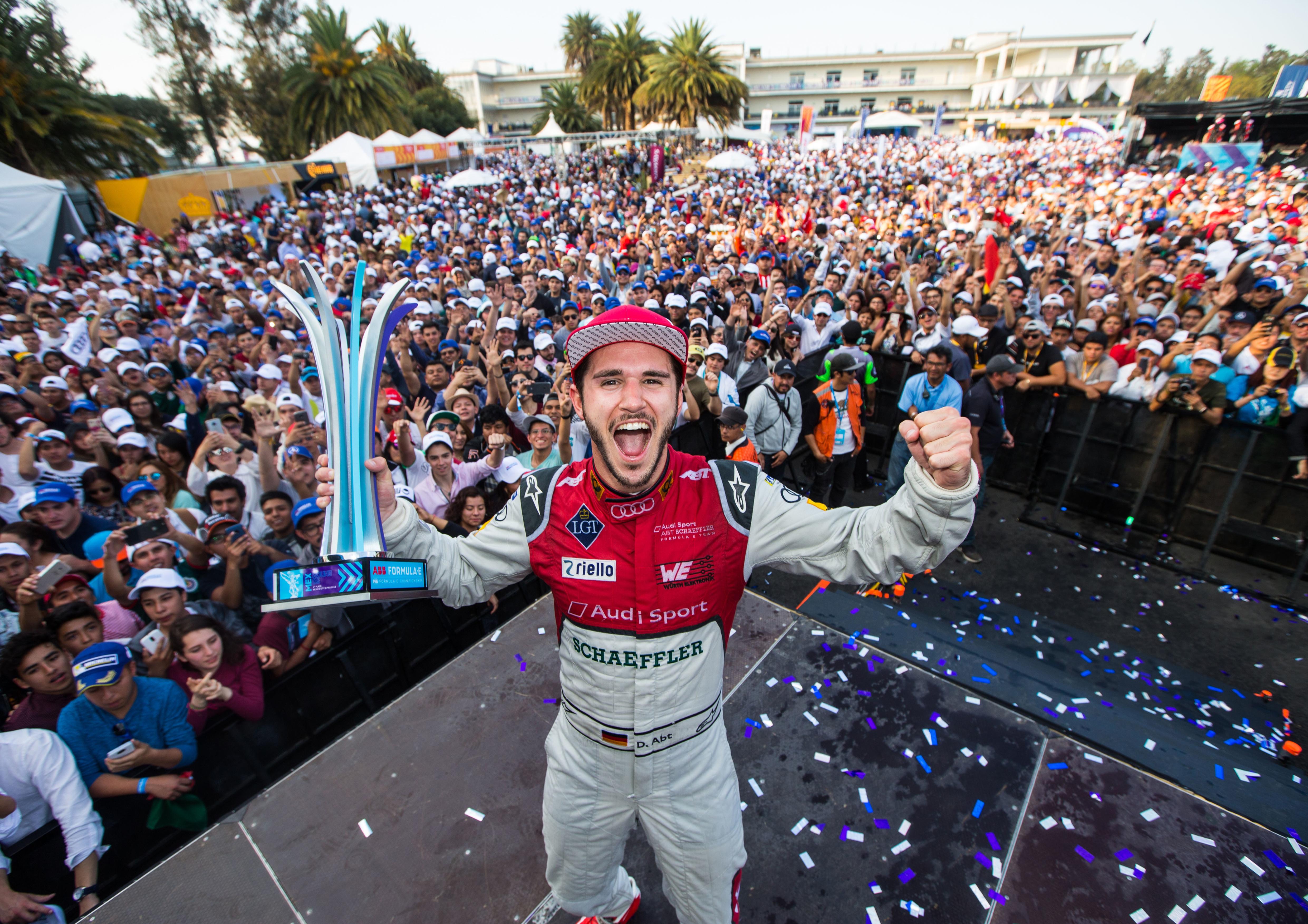 Daniel Abt bei seinem letzten Formel-E-Sieg am 3. März 2018 in Mexico City.