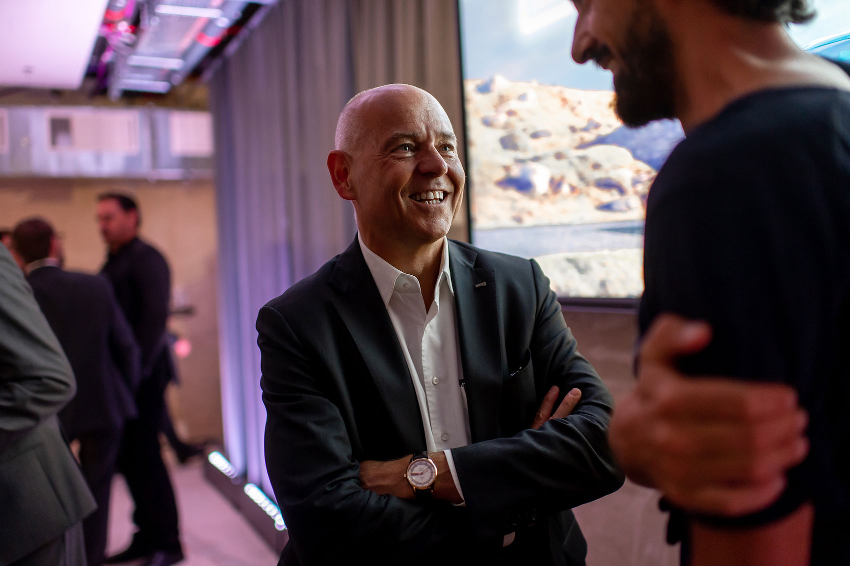 Morten Hannesbo, CEO d'AMAG, dialoguant avec Caspar Coppetti. (Tom Lüthi)