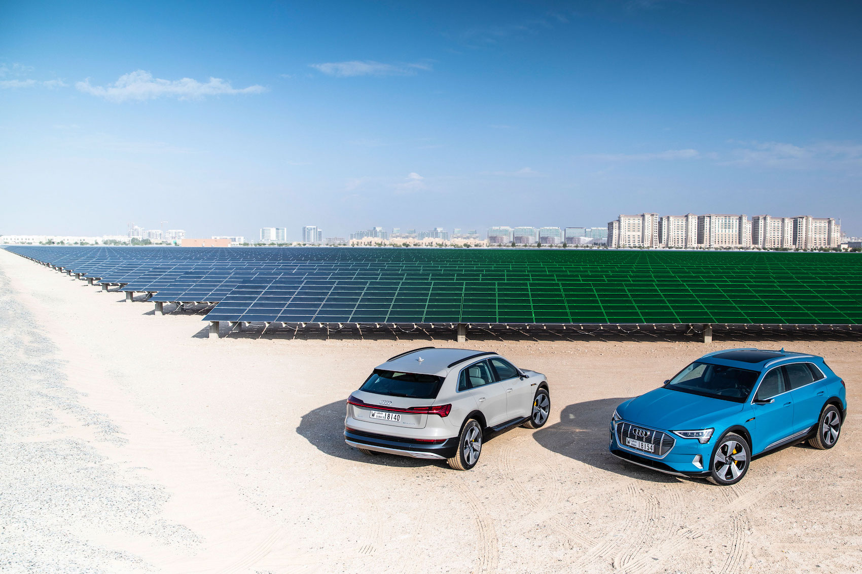 Die grösste Photovoltaik-Anlage des Nahen Ostens in Masdar City im Emirat Abu Dhabi. (AUDI/Bearbeitung Brand Studio)