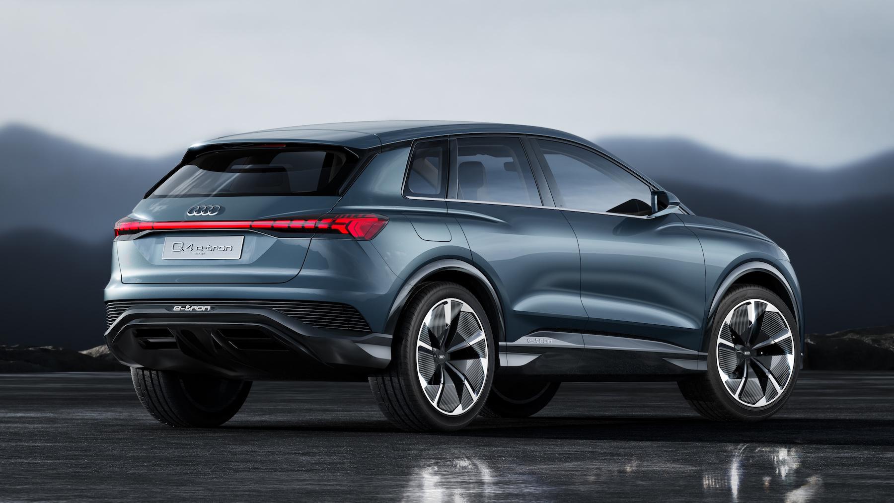L'Audi Q4 e-tron concept est la cinquième Audi 100% électrique que la marque commercialisera d'ici fin 2020. (AUDI)