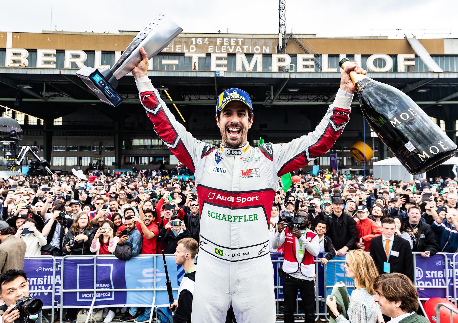 Lucas di Grassi holte im letzten Rennen vor Bern seinen ersten Saison-Sieg. (Audi Communications Motorsport/Michael Kunkel)