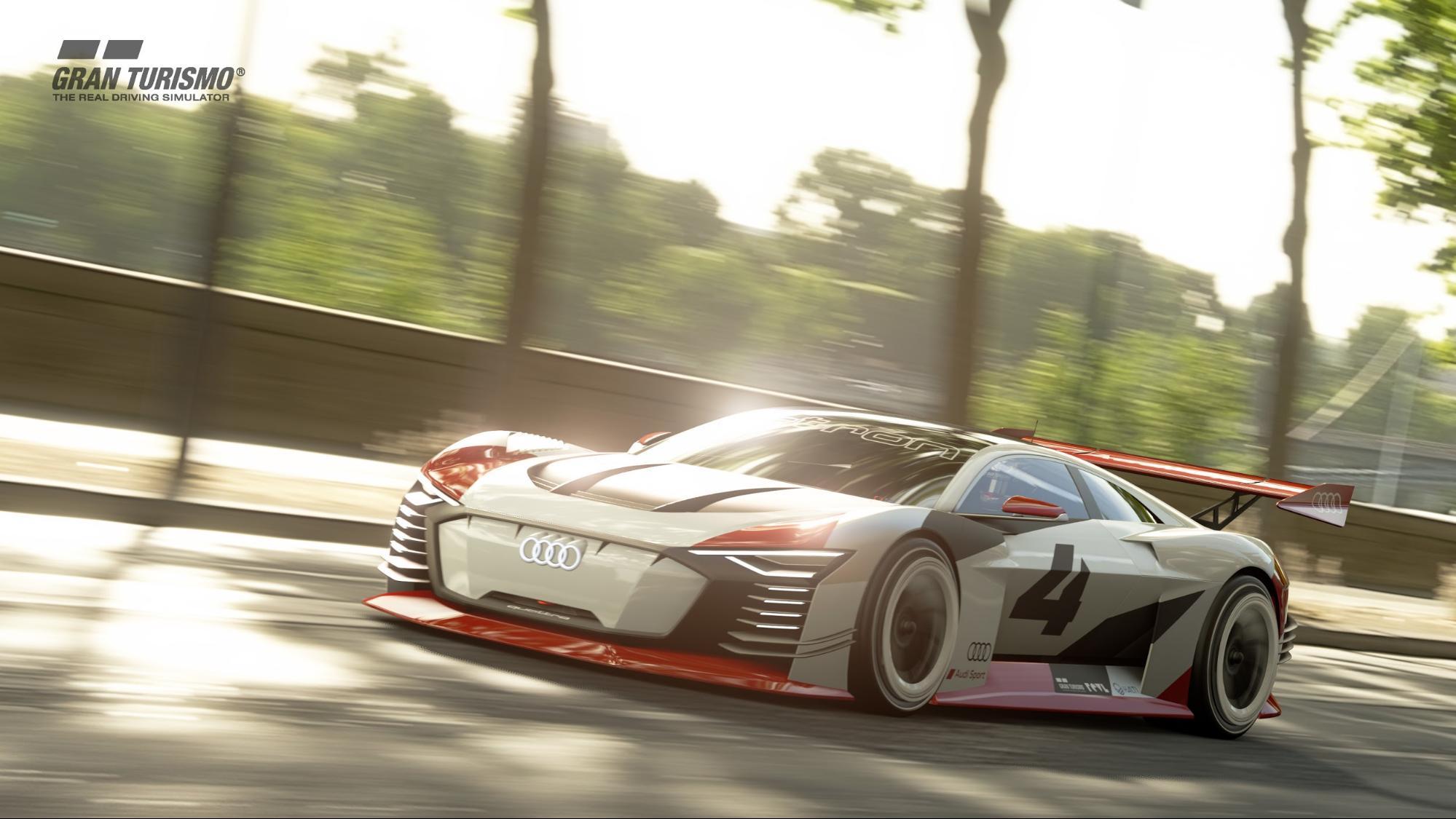 Die Rennsimulation Gran Turismo auf der Playstation 4 setzt Simulations-Massstäbe. (AUDI)