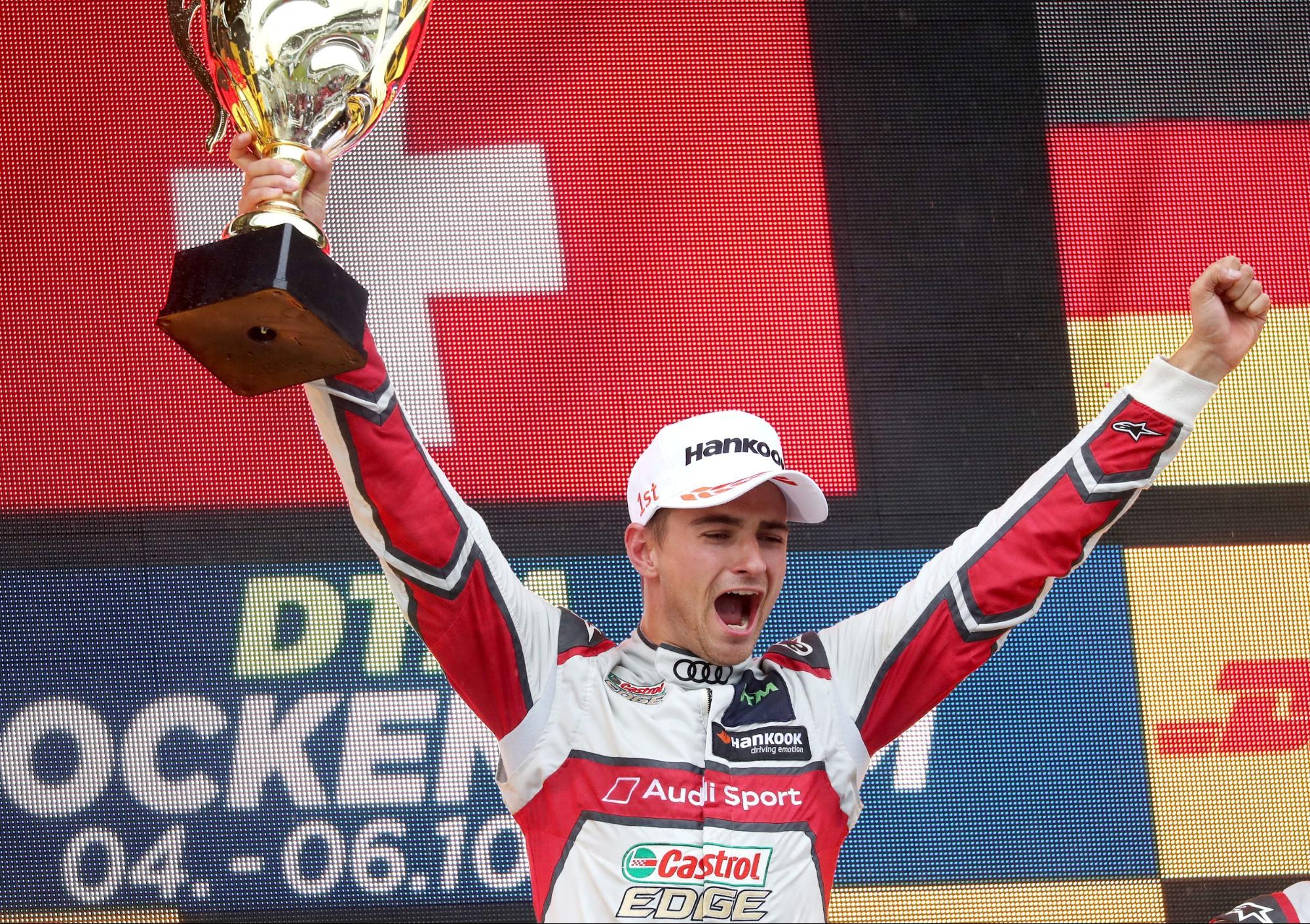 Der Gegner ist DTM-Vizeweltmeister: Nico Müller am 6. Oktober in Hockenheim (D). (AUDI)
