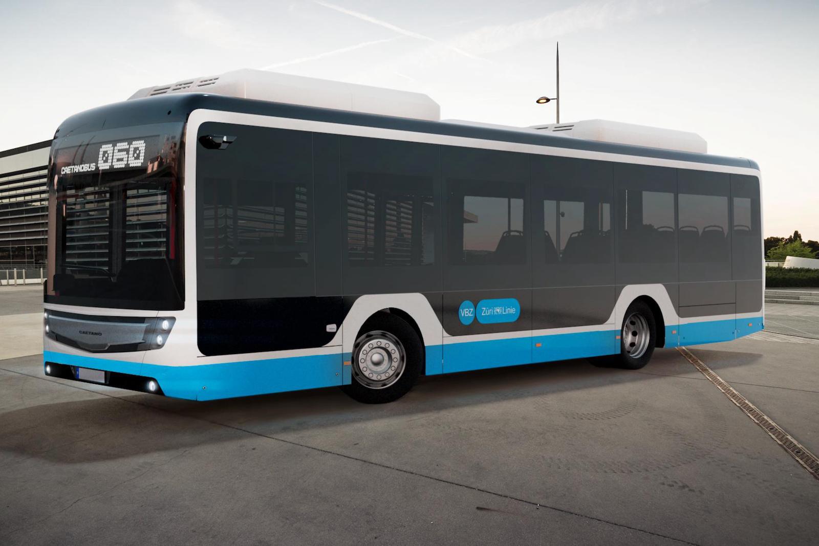 Voici à quoi ressembleront les nouveaux bus de quartier des VBZ qui se déplaceront dans Zurich de manière entièrement électrique et sans caténaires. (VBZ)